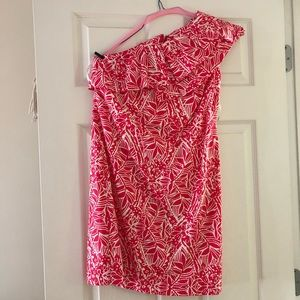 Lilly Pulitzer One Shoulder Summer Party Dress